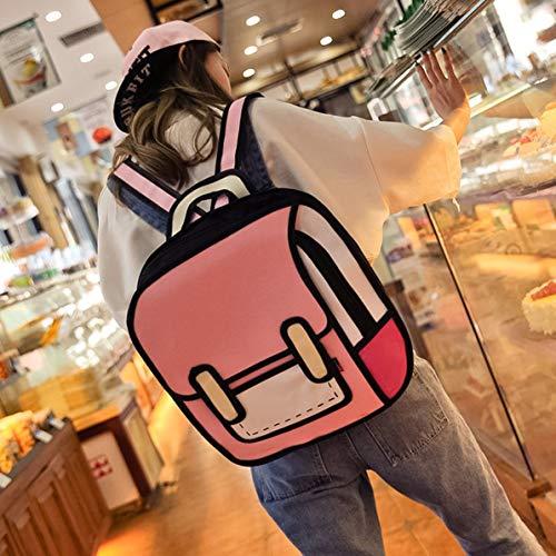 Domoment 2d Girl 2d Comic Bag Rugzak Stereo Tide rr1xSwqB