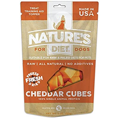 Nature's Diet Pet Raw Freeze Dried Grain Free Dog Treats (Cheddar Cubes)