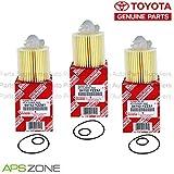 Genuine OEM Toyota Lexus Oil Filter + Drain Plug Gasket 04152-Yzza1 Set Of 3