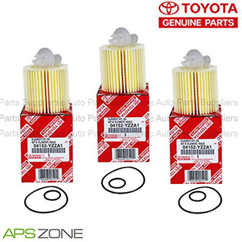 Genuine OEM Toyota Lexus Oil Filter + Drain Plug Gasket 04152-Yzza1 Set Of 3 ()
