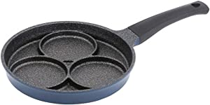 3-Cup Egg Frying Pan for Induction Stovetop, Nonstick Coating Aluminum Egg Cooker Pan
