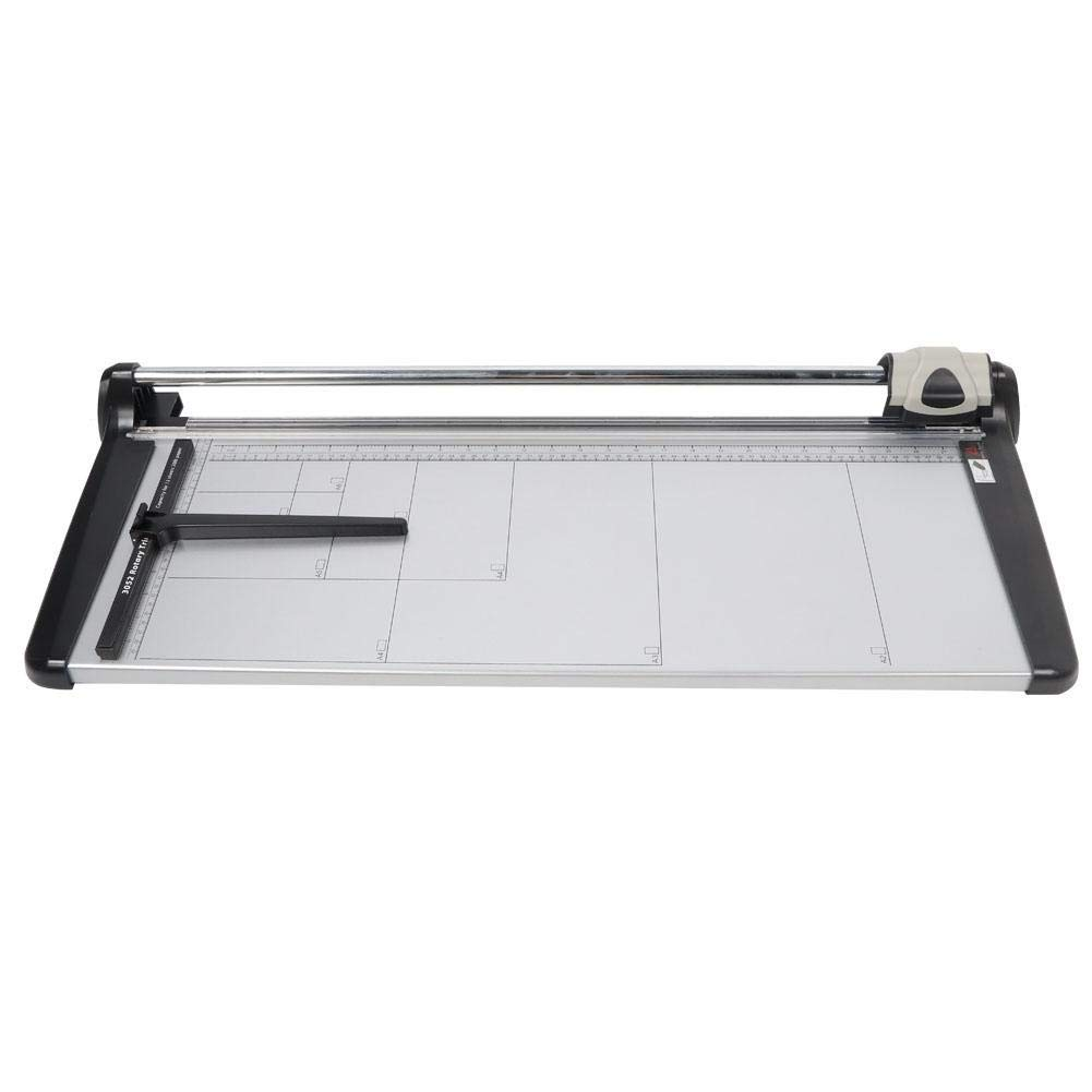 Office Rolling Paper Cutter, Silver Gray Self-sharpening Rolling Paper Cutter Manual Accurate Photo Card Trimmer by Pokerty