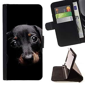 Momo Phone Case / Flip Funda de Cuero Case Cover - Dachshund Doxie Peque?o perro de mascota lindo; - Apple Iphone 6