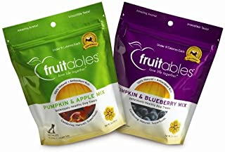product image for Fruitables Pumpkin & Apple/Pumpkin & Blueberry, Crunchy Baked Dog Treats, Combo Pack, 2 7-Ounce Pouches