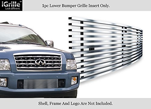APS Fits 04-10 Infiniti QX56 Lower Bumper Stainless Steel Billet Grille Insert Chrome Polished #N85448S