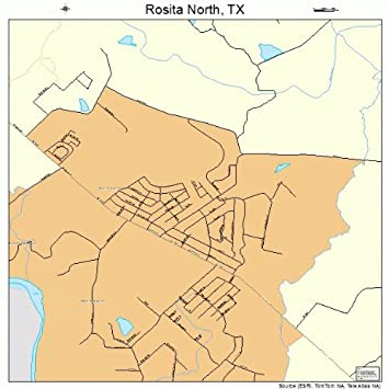 Map Of North Texas Towns.Amazon Com Large Street Road Map Of Rosita North Texas Tx