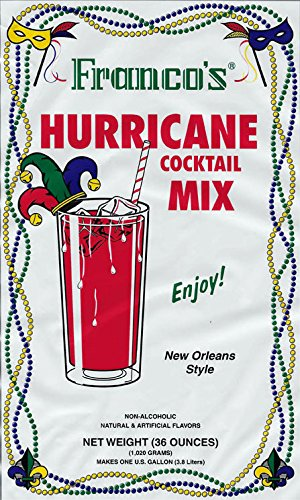 (Franco's New Orleans Style Hurricane Cocktail Mix, 36 Ounces (Makes 1 Gallon) )