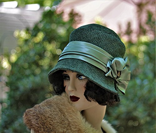 1920s Vintage Style Fall Winter Cloche Hat by Hats by Gail
