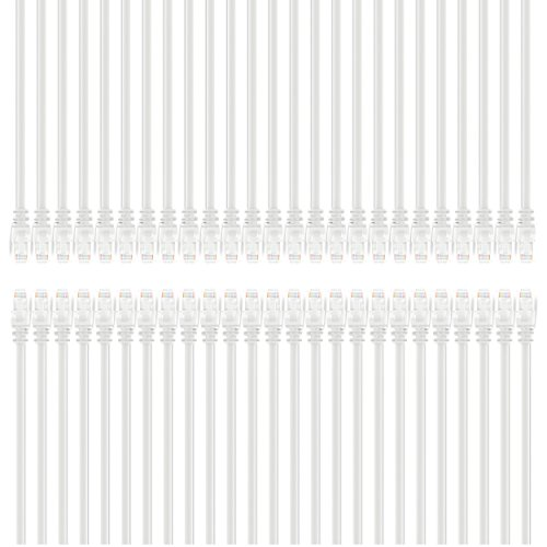 GearIT 50-Pack, Cat5e Ethernet Patch Cable 1 Foot - Snagl...