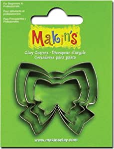 Makin's USA Clay Cutters, Ribbon, 3 Per Package