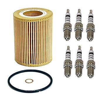 Motor Filtro de aceite Cartucho 6 Bujías 4417/11 42 7 512 300 BMW 325 Ci 330 ci X3 X5 525i 530i: Amazon.es: Coche y moto