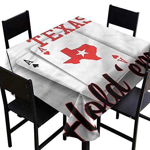 haommhome Oil-Proof and Leak-Proof Tablecloth Poker Tournament Texas Holdem Soft and Smooth Surface W36 xL36 Waterproof/Oil-Proof/Spill-Proof Tabletop Protector