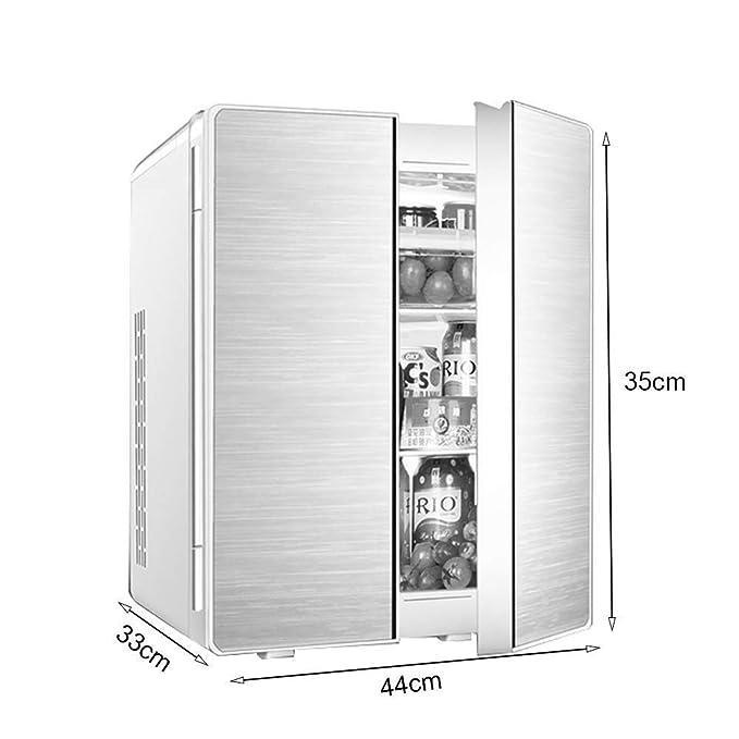 DYFYF Alquiler 25L Mini refrigerador de Doble Puerta Doble ...