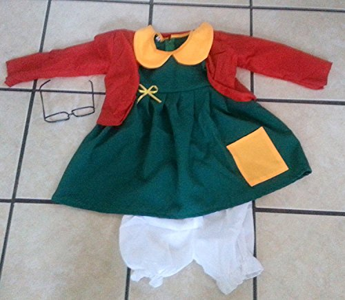 Chilindrina Costumes Kids Size 2 T2 Party Halloween Traje Favors Birthday 4PC