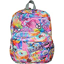 """iscream 'Psychedelic Collage' Classic Style 16.5"""" x 13.5"""" Backpack for School and Travel"""