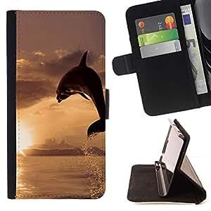 Momo Phone Case / Flip Funda de Cuero Case Cover - Dolphin Sol;;;;;;;; - HTC Desire 626