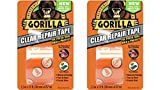 "Gorilla 6015002-2 Repair Duct Tape, 1.5"" x 5 yd, Clear, (Pack of 2), 2 - Pack 2 Piece"