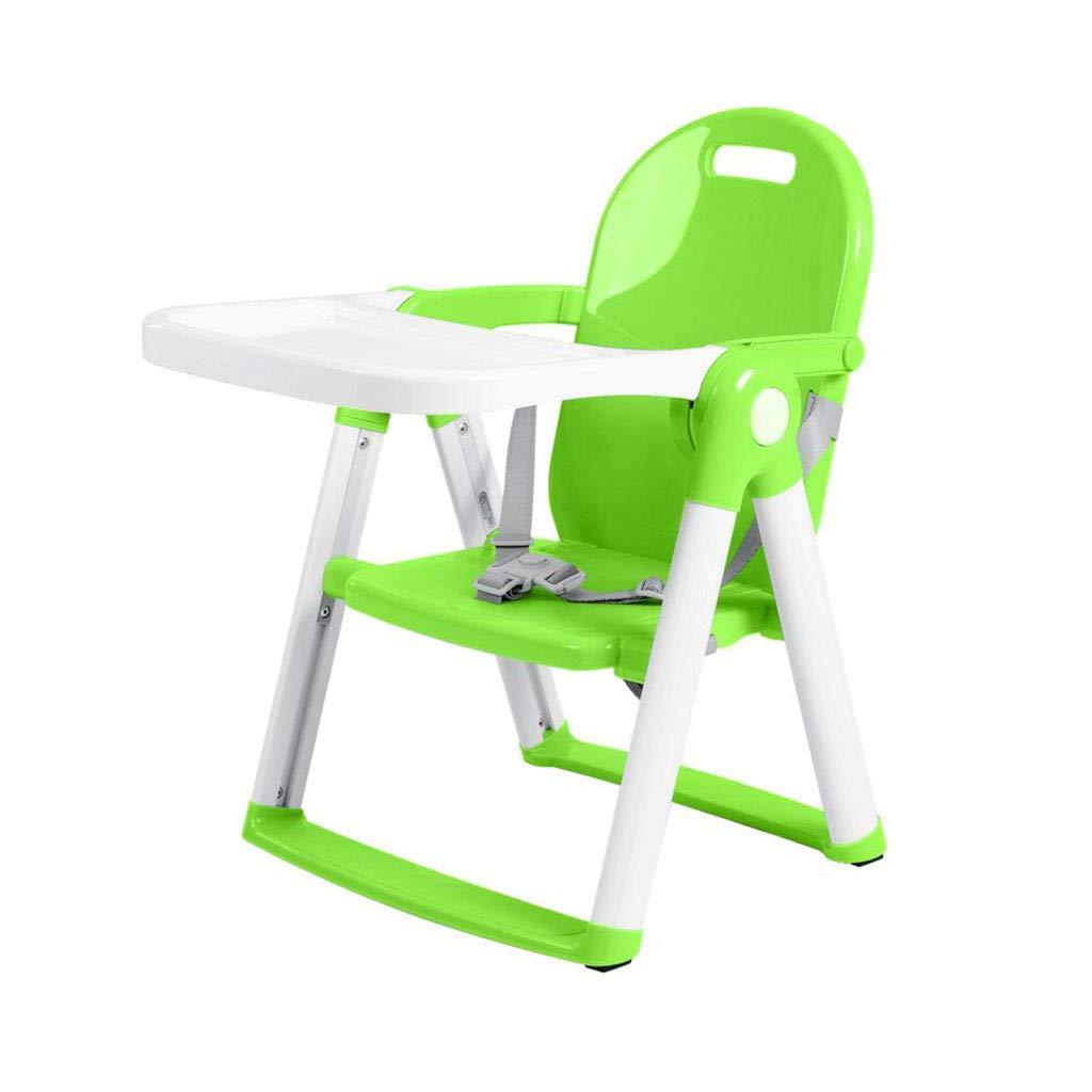XY チェアベンチ ベビーブースターシート多機能Foldableポータブルベビーチェアシートチェア (色 : Green)  Green B07K5WQY7D