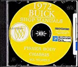 FULLY ILLUSTRATED 1972 BUICK COMPLETE FACTORY REPAIR SHOP & SERVICE MANUAL & FISHER BODY MANUAL CD COVERS: Skylark, GS, Estate Wagons, Le Sabre, Centurion, Electra, and Riviera. 72