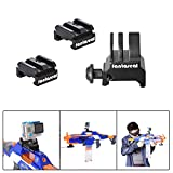 Fantaseal® Enhanced Gun Rail Mount Kit for Nerf to Picatinny Rail Aluminum Alloy Gun Rail Adapter Mount 18-21mm Hardpoint Nerf Attachment Accessories Nerf Gun Mount MOD Kit for Standard Military Tactical Gear Scope Sight etc + Picatinny Gun Rail Mount Picatinny Airsoft Gun Camera Mount Adapter for GoPro Gun Mount GoPro Picatinny Gun Rail Mount GoPro Airsoft Gun Mount Shotgun Rifle Pistol Carbine Gun for Gopro Hero 5/ 4/ 3+/ 3/ Session and Garmin Virb XE SJCAM DBPOWER QUMOX-etc Action Cam