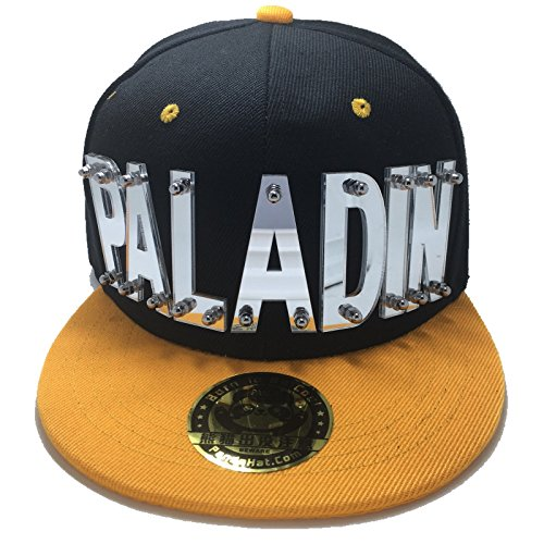 PANDAHAT Paladin Voltron Hat In Black With Yellow (Kpop Costume For Male)
