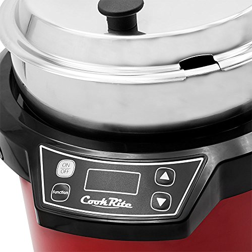 Chef's Supreme - 7 qt. 120v Red Soup Kettle w/ Digital Display by Chef's Supreme (Image #1)