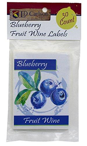 Blueberry Fruit Wine Labels - Wine Fruit Labels