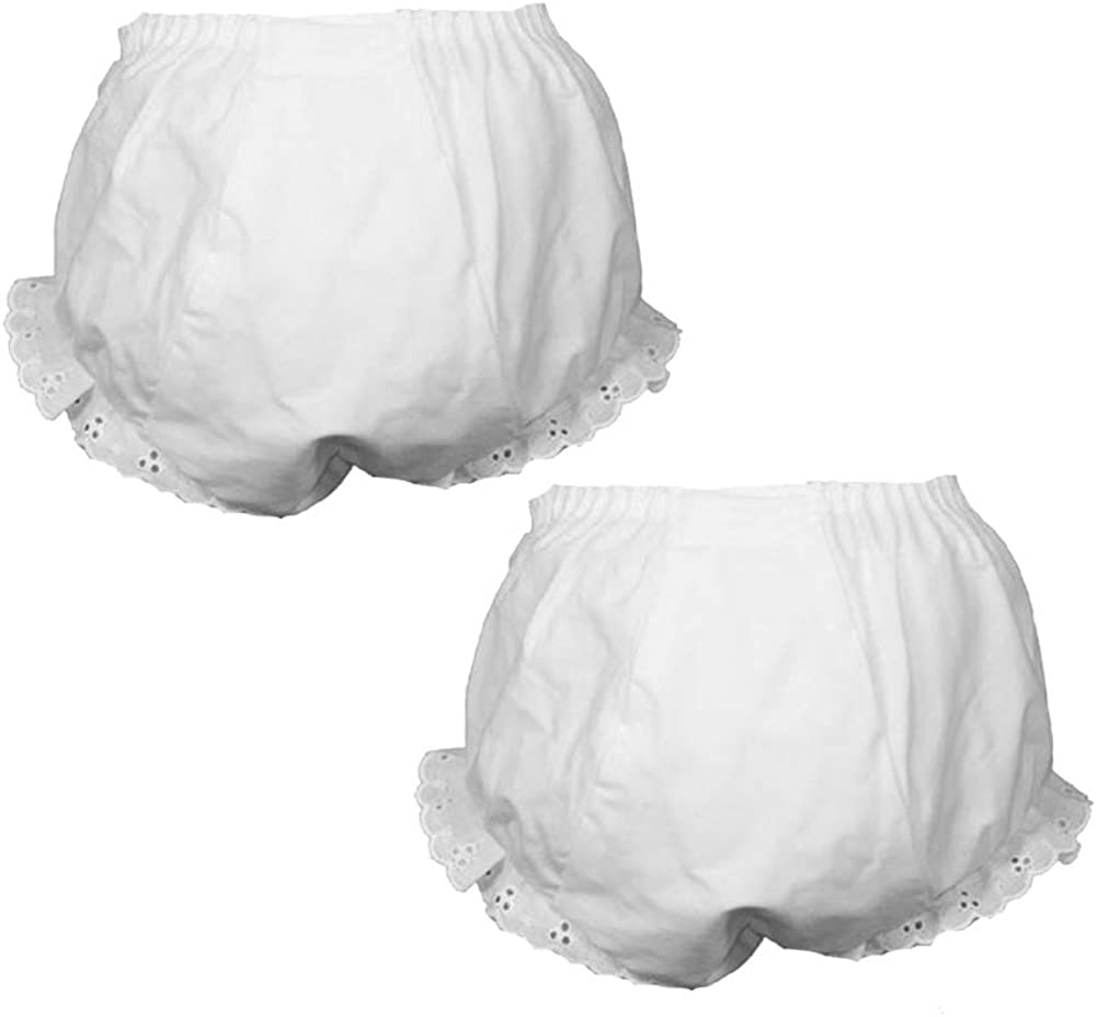 ICM Girls White Double Seat Panty Cotton Blend 2 Pack