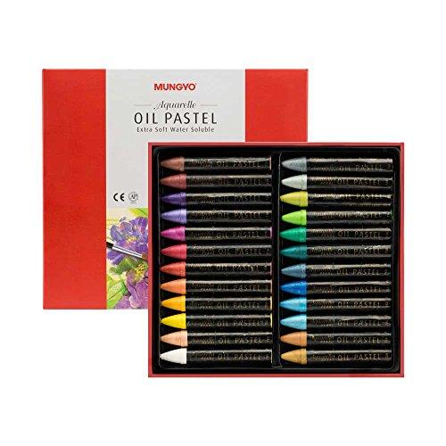 Oil Pastels Metallic (Mungyo Water-Soluble Oil Pastel Set of 24 - Pearl Set)
