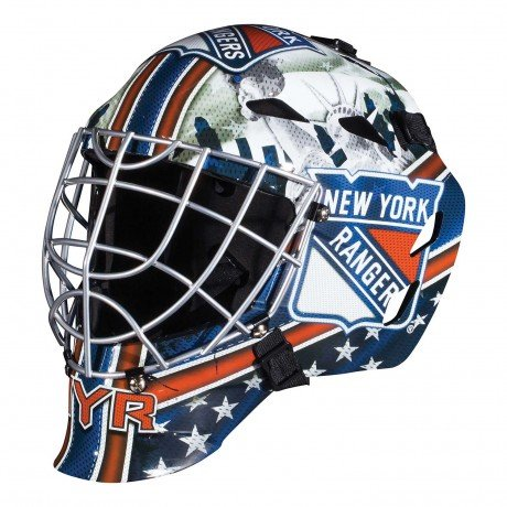 NY New York Rangers NHL Full Size Youth Goalie Hockey Mask - New with Tags - Not for Competitive Play