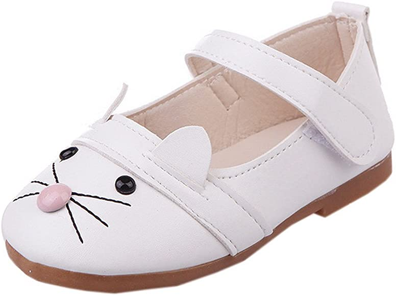 Cute Cat Shoes for Toddler Girls PU