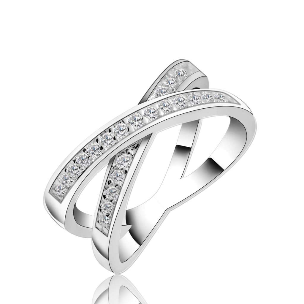 Jewelry Zircon Ring Crystal Jewelry Fashion Diamond Jewelry Silver (Size : 7) by Liu Weiqin