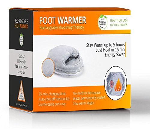 Happy Heat Portable Electric Foot Warmer Rechargeable Soothing Heat for up to 5 Hours - The Perfect Pain Relief for Your Feet.