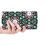 Unique Custom Stained Glass Pattern Church Window Faces Texture Women Trifold Wallet Long Purse Credit Card Holder Case Handbag