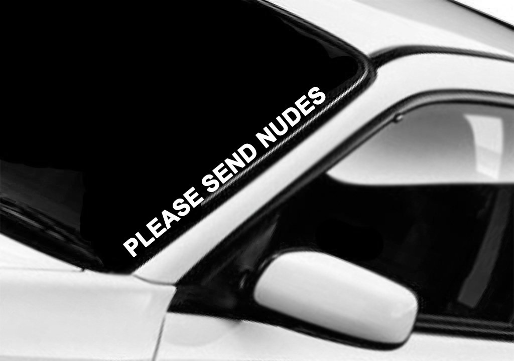 Amazon com please send nudes windshield sticker decal window jdm automotive