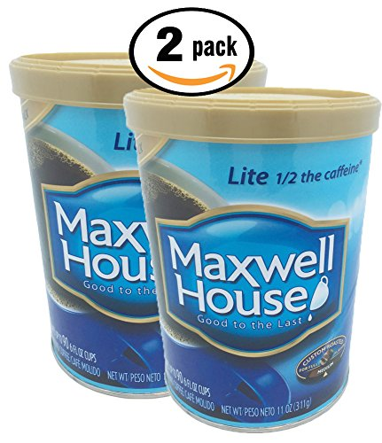 Pack of 2, 11 oz Maxwell House Medium Roast Ground Coffee Lite Half the Caffeine