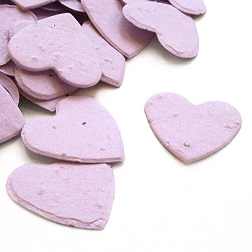 Shower Favor Baby Seeds (Heart Shaped Plantable Seed Confetti (Lavender) - 350 pieces/bag)
