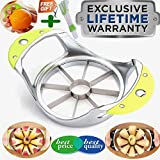 Apple Slicer Apple Cutter Stainless steel(Apple Corer+Orange peeler+Cleaning brush) Core remover Blooming Onion Cutter Divider Wedger Metal Decorer Tool For Large Pear Kitchen Gadgets