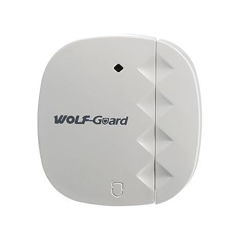 Sistema de alarma inteligente para el hogar con cámara de Wolf-Guard WM2GR, sensor de ventana y de puerta, detector de movimiento, botón SOS, RFID, 2 ...