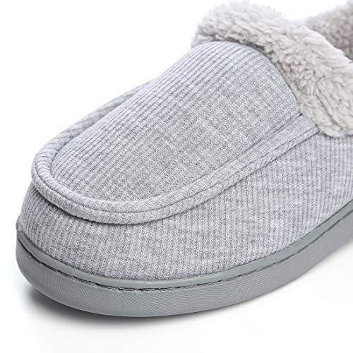 Indoor Grey Shoes Fleece Women's Dailybella Cozy Outdoor House Winter Moccasins Breathable Slippers Plush FH7p4wq