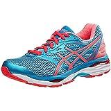 ASICS Women's Gel-Cumulus 18 Running Shoe, Aquarium/Flash Coral/Blue Jewel, 5 M US