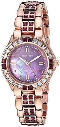 Armitron Women's 75/3689VMRG Amethyst Colored Swarovski Crystal
