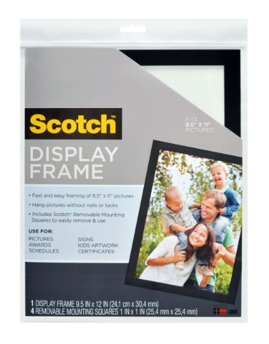 Scotch 8.5 x 11 Inches Document Size Display Frame, 4 Remova