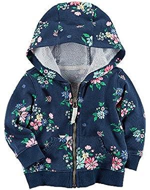 Baby Girls' Floral Hoodie