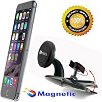AccessoryBasics BASICS-XT Strong Magnetic Car DVD CD Slot Car Holder Mount for iPhone X 8 7 6s Plus Galaxy S8 S7 Edge LG V30 OnePlus Google Pixel Smartphone (Compatible w/OttherBox Case too)