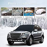 IIIUUbhswb Hamilton Portable Car Front Windshield Snow Cover Ice Removal Waterproof Sun Visor Protector for Most Cars