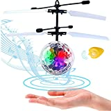 LISOPO Kid RC Toys, RC Flying Ball, Infrared Induction Helicopter Ball with Shinning LED Lights Built-in and Remote Control Toys for Boys and Girls