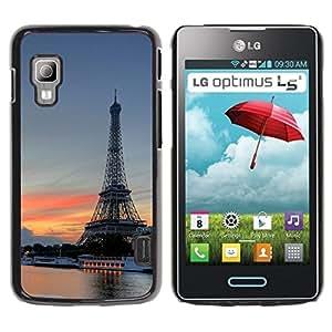 LECELL -- Funda protectora / Cubierta / Piel For LG Optimus L5 II Dual E455 E460 -- Eiffel Tower --