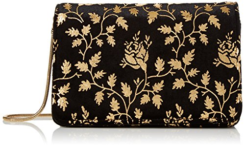 Miss Selfridge - Cross, Bolsos bandolera Mujer, Black, 7x10x16.3 cm (W x H L)
