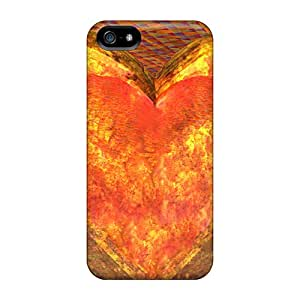 Fashion YJk20114PXuG Cases Covers For Iphone 5/5s(fireglass Heart) Black Friday